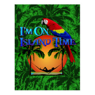 Island Time In Hammock Postcards