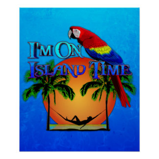 Island Time In Hammock Poster