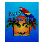 Island Time In Hammock Posters