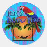 Island Time In Hammock Sticker