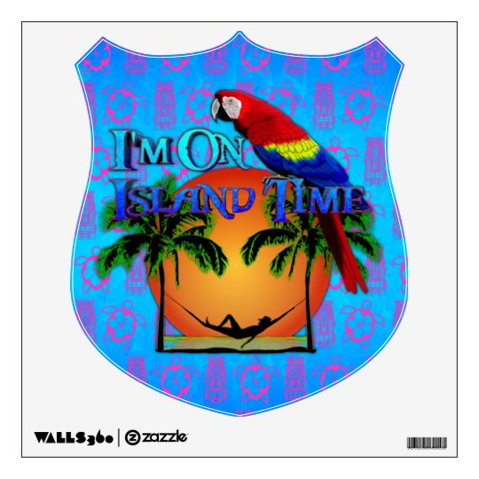 Island Time In Hammock Wall Sticker