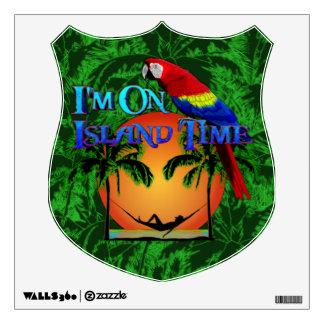 Island Time In Hammock Wall Sticker