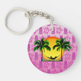 Island Time Acrylic Key Chain