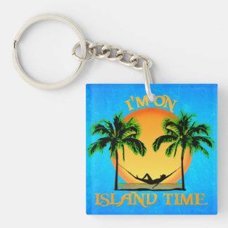 Island Time Square Acrylic Key Chain