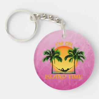 Island Time Acrylic Keychain