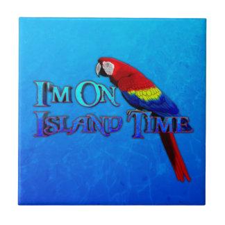 Island Time Parrot Ceramic Tile
