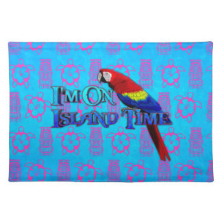 Island Time Parrot Cloth Placemat