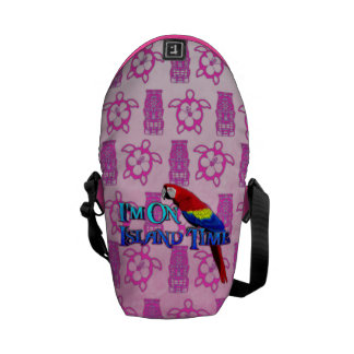 Island Time Parrot Courier Bag