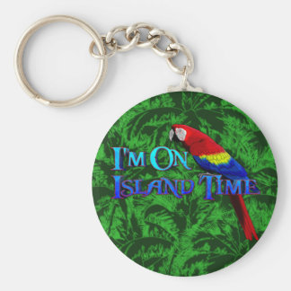 Island Time Parrot Key Chain