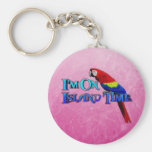 Island Time Parrot Keychains