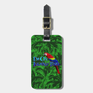 Island Time Parrot Luggage Tags