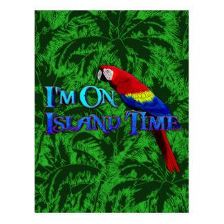 Island Time Parrot Postcard