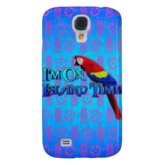 Island Time Parrot Samsung S4 Case