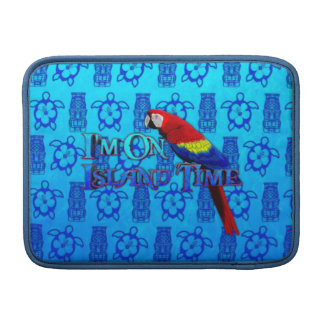 Island Time Parrot Sleeve For MacBook Air