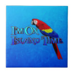 Island Time Parrot Small Square Tile
