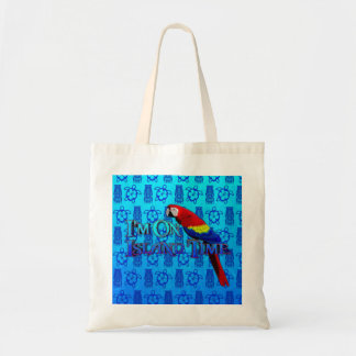 Island Time Parrot Tote Bag