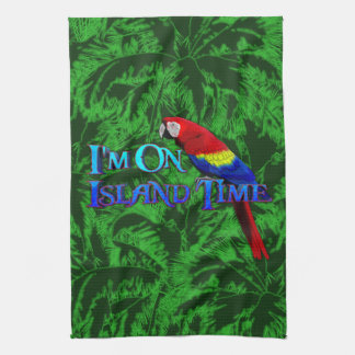 Island Time Parrot Towel