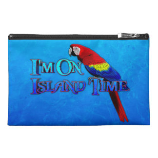 Island Time Parrot Travel Accessory Bag