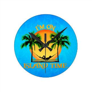 Island Time Round Clock