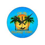 Island Time Round Clocks
