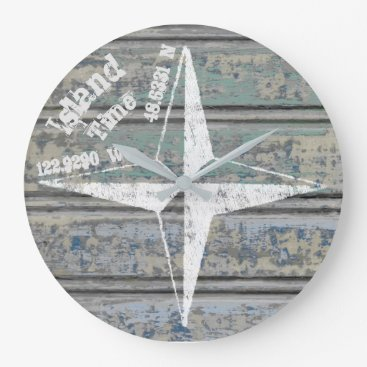 Island Time Round Coastal Clock
