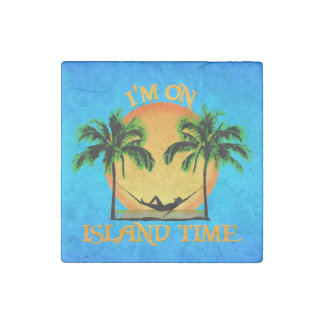 Island Time Stone Magnet