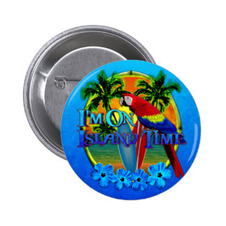 Island Time Sunset 2 Inch Round Button