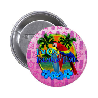 Island Time Sunset And Tikis Button