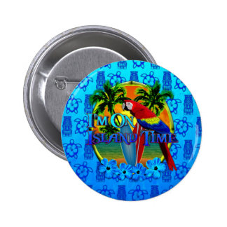 Island Time Sunset And Tikis Pins