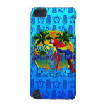 Island Time Sunset And Tikis iPod Touch 5G Covers