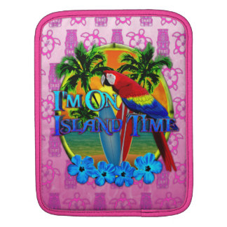 Island Time Sunset And Tikis Sleeve For iPads