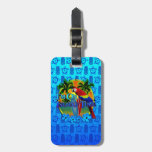 Island Time Sunset And Tikis Tag For Bags