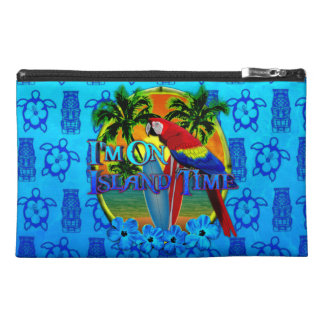 Island Time Sunset And Tikis Travel Accessories Bag