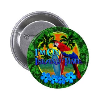 Island Time Sunset Pin
