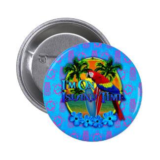 Island Time Sunset Pinback Button