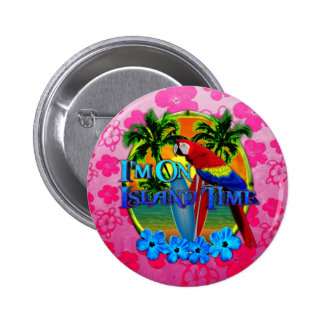 Island Time Sunset Pinback Buttons
