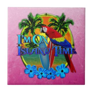Island Time Sunset Ceramic Tile