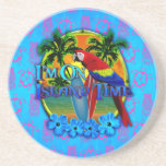 Island Time Sunset Drink Coaster