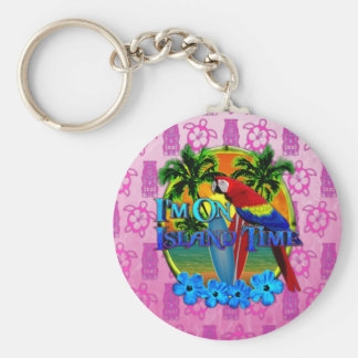 Island Time Sunset Key Chains