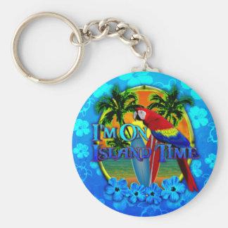 Island Time Sunset Key Chain