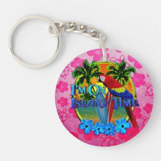 Island Time Sunset Acrylic Keychain