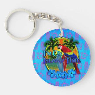 Island Time Sunset Acrylic Key Chains