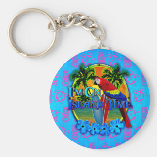 Island Time Sunset Keychain