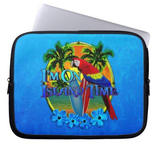 Island Time Sunset Laptop Sleeves