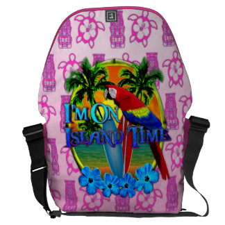 Island Time Sunset Messenger Bag