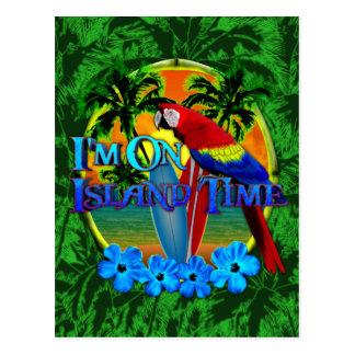 Island Time Sunset Postcard