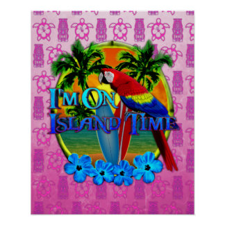 Island Time Sunset Posters
