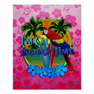 Island Time Sunset Poster