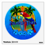Island Time Sunset Wall Decal