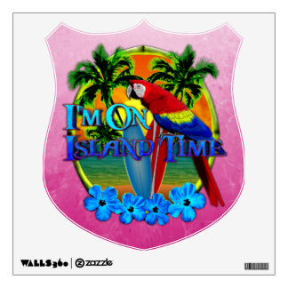 Island Time Sunset Wall Sticker